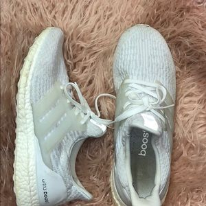 All white ultra boost